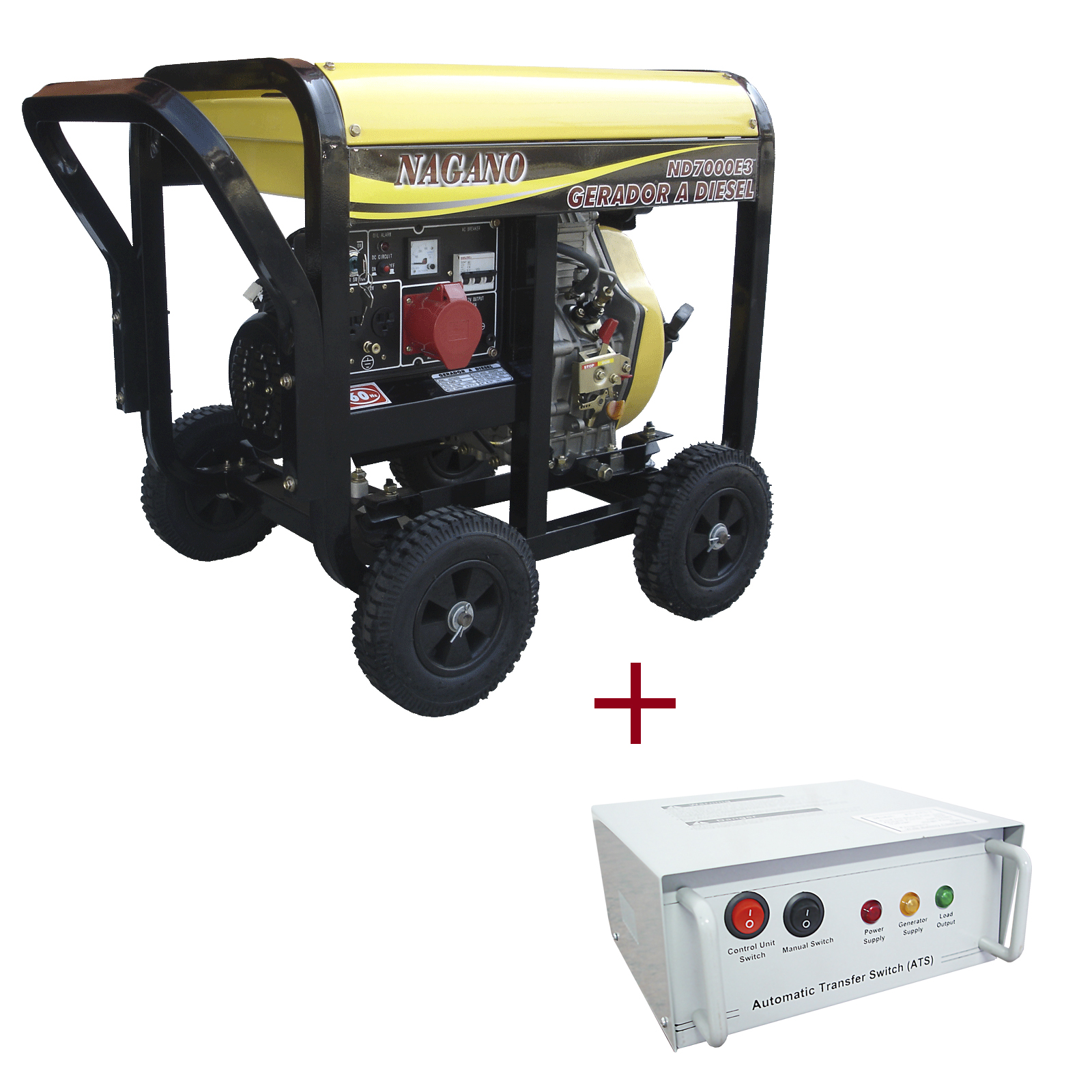 83858625032 Nagano Máquinas - Gerador de energia a Diesel 6 KVA Partida Elétrica -  ND7000E3QTA - Fora de Linha