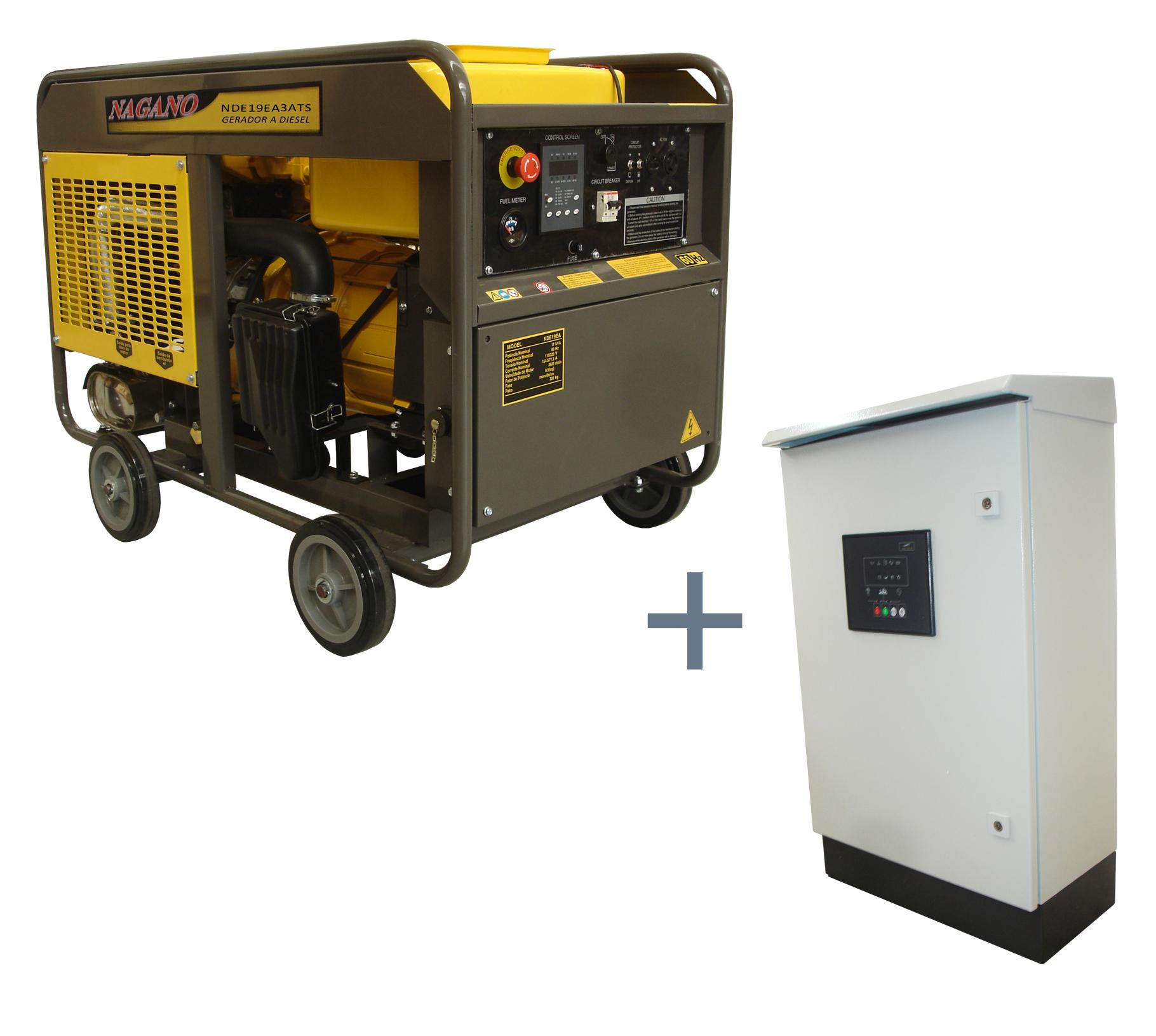 Nagano Máquinas - Gerador de energia a Diesel Trifásico 21KVA P. Elétrica  com QTA- NDE19EA3ATS (Fora de linha) 9681f34759