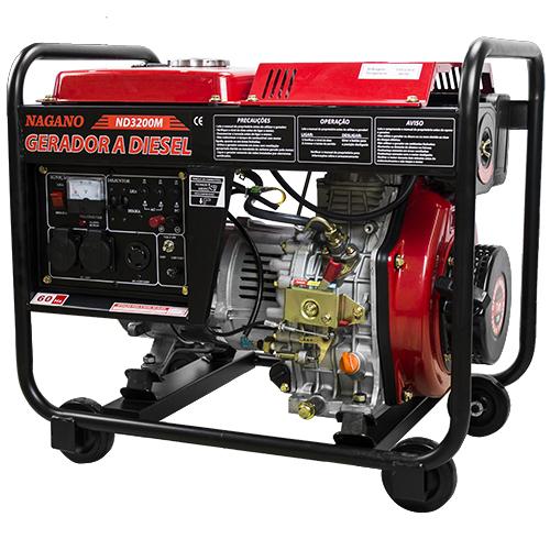 228f9fe519f Nagano Máquinas - Gerador de Energia a Diesel 3.75 KVA Monofásico Partida  Manual – ND3200M