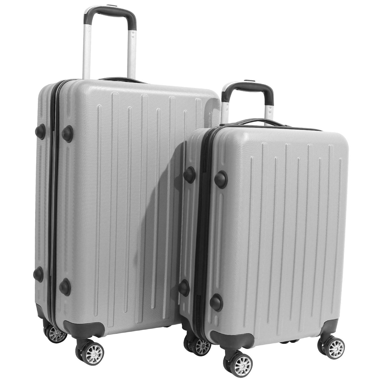 6c5ffe4f60b27 Nagano Máquinas - Kit 2 Malas de Viagem Rígidas em ABS 4 Rodinhas 360 Cinza  - Nagano